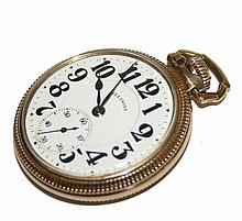 Illinois Men's Gold Filled Large Pocket Watch