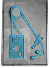 Lalique Rare Art Deco Pendant Necklace - Blue