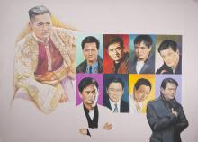 Chow Yun Fat By Original Artist Joel Iskowitz  - Acrylic on board