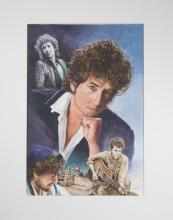 Bob Dylan By Original Artist Joel Iskowitz  - Acrylic on board