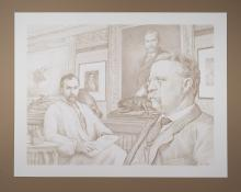 Inspiration of the Lincoln Cent By Original Artist Joel Iskowitz   - Pencil on paper