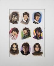 John Lennon 1996 By Original Artist Joel Iskowitz  -  Acrylic on Paper