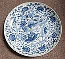 LARGE BLUE & WHITE CHINESE POTTERY CHARGER