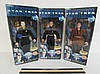 STAR TREK FIRST CONTACT FIGURES (3) ALL ARE IN ORIGINAL PACKAGING, ZEFRAM COCHRANE, CAPTAIN JEAN-LUC PICARD, & LT. COMMANDER DATA