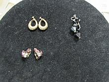 WEST GERMANY & NAPIER CLIP-ON EARRINGS (3)