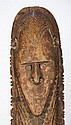 A superb pair of Koil island carved figures, New Guinea