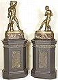 Pietro Chiapparelli, 19th century, two bronzes of fighting boxers