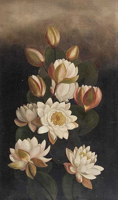 19th Century Still Life of Camellias