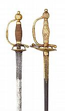 A NORTH EUROPEAN SMALL-SWORD FOR A CHILD, CIRCA 1730, PROBABLY SWEDISH AND ANOTHER SMALL-SWORD FOR A CHILD, GERMAN, CIRCA 1750
