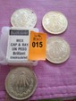 Four Silver Mexican Cap & Ray Un Peso, Brilliant Uncirculated