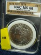 1878 Morgan Silver Dollar NAC MS66