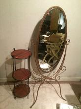 Mirror and Shelf Table