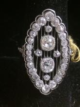 18kt Platinum and Diamond Ring