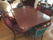 Victorian Dining Table and Chairs Set