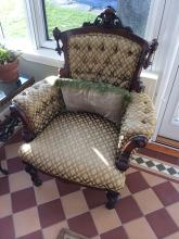 Victorian Rosewood Upholstered Chair