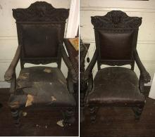 Vintage Griffin Carved Chairs