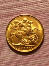1902 Gold British Sovereign