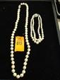 Estate Ladies Pearl Necklace with Bracelet