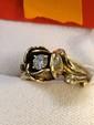 Estate 14kt Gold Ladies Diamond Ring in Shape of Rose