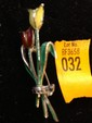 Estate Enamel Ladies Pin with Tulips Marked 835