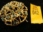 Estate 18kt Gold Ladies Pin with Emeralds