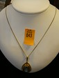 Estate Gold Market 333 Ladies Pendant with Aquamarine Stone