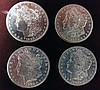 4 1882-S Morgan Silver Dollars, Brilliant Uncirculated