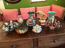 10 Pieces U.S. Pottery and Capodimonte