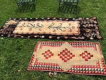 2 Antique Hand Hooked Rugs