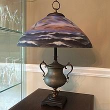 Seagull Reverse Painted Table Lamp