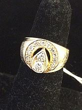 Estate 14kt Gold Man's Diamond Ring