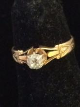Antique 18kt Gold Diamond Ring
