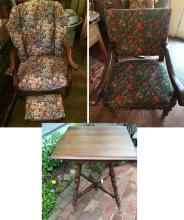 Victorian Square Table & 2 Chairs