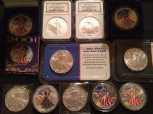 Collection of American Silver Eagles