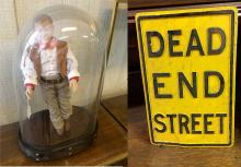 John Wayne Doll and Sign