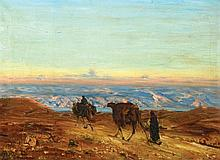 Ludwig Blum 1891 - 1975 - Dead Sea Landscape with Camels