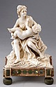A BISCUIT PORCELAIN NEOCLASSICAL STYLE SCULPTURE OF MOTHER AND SON