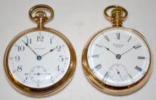 Two Waltham Pocket Watches: Model 1883 11-13J 18S & OF 15J 18S
