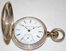 Elgin National 11-17J 18S HC Full LS Coin Silver Pocket Watch with Serial No. 2786538