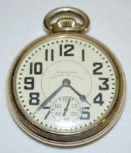 Waltham Vanguard 23J 16S OF LS 8 Adj. DMK Pocket Watch with Serial No. 32399975