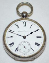 Elgin National 7-17J 18S OF KW/KS Sterling Pocket Watch with Serial No. 424029