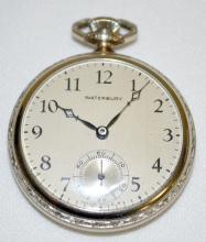 Waterbury Jeweled 12S OF SW 3/4 No 150121 Pocket Watch in Original Metal Box