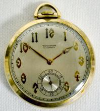 Waltham Colonial Riverside 21J 12S OF SW Adj. Temp RGJS DMK Pocket Watch with Serial No. 29295111 and a Jeweled Main Wheel