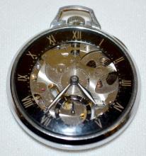 Girard-Perregaux Skeletonized Shell Pocket Watch Circa 1940 made to advertise Shell Oil