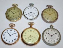 Six Swiss Pocket Watches
