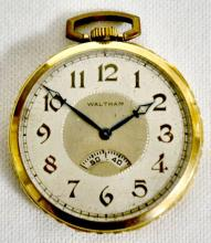 Waltham 17J Secometer 12S OF SW DMK Adjusted Pocket Watch with Serial No. 27320891