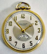 Waltham 21J Riverside Secometer 12S OF SW RGJS DMK No. 1271 Jeweled Main Spring Adjusted Temp Pocket Watch with Serial No. 28886222