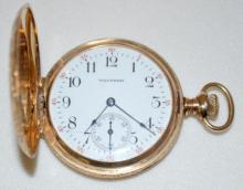 14K Waltham 15J 6S DMK HC Pocket Watch with Serial No. 11870446 and Fancy Paisley Designs