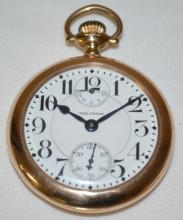 Mason Trademark Waltham 23J Vanguard 16S OF SW RGJS DMK WI LS Adj 6 Pos Pocket Watch