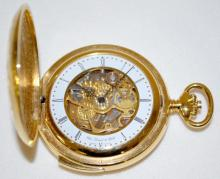 Chs. Tissot & Fils 17J Skeletonized Minute Repeater Pocket Watch in 55mm gold-colored case
